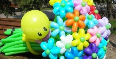 Сертификат номиналом 900 руб. на клоуна из воздушных шаров с букетом