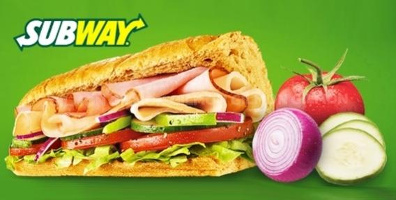 Долгожданная акция от SUBWAY! Всемирно известные сэндвичи, роллы, начинки и салаты за полцены. Всегда свежее!